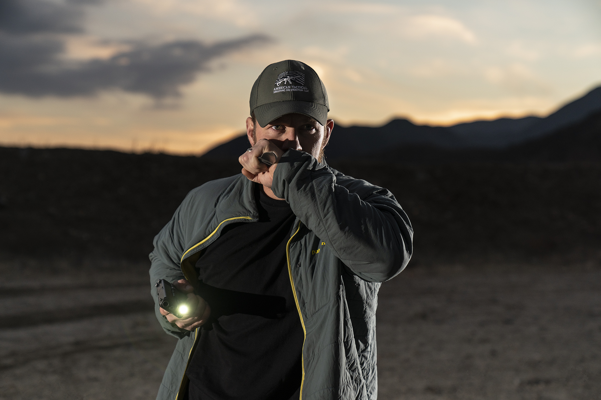 Bill Rapier of Amtac Shooting with SureFire flashlight