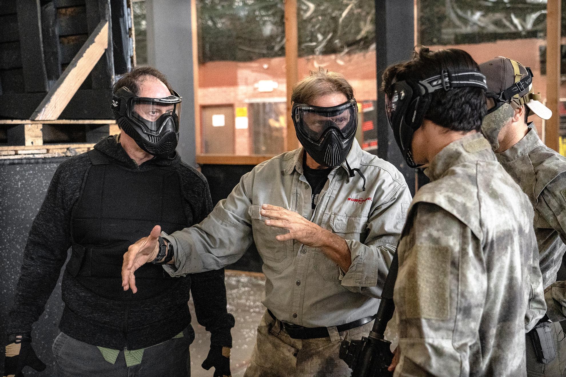 Dave Maynard at Warfighter Academy firearms training