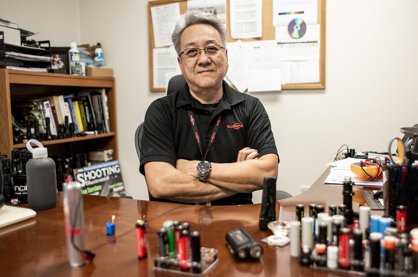 Alex Soo in the SureFire Engineering Department