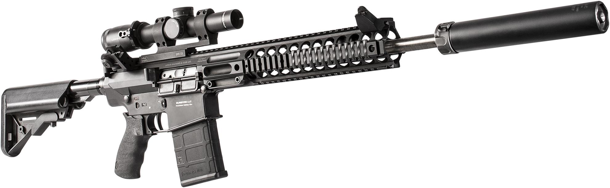 SureFire SOCOM260-RC2 suppressor mounted on a 6.5 Creedmor AR-variant rifle