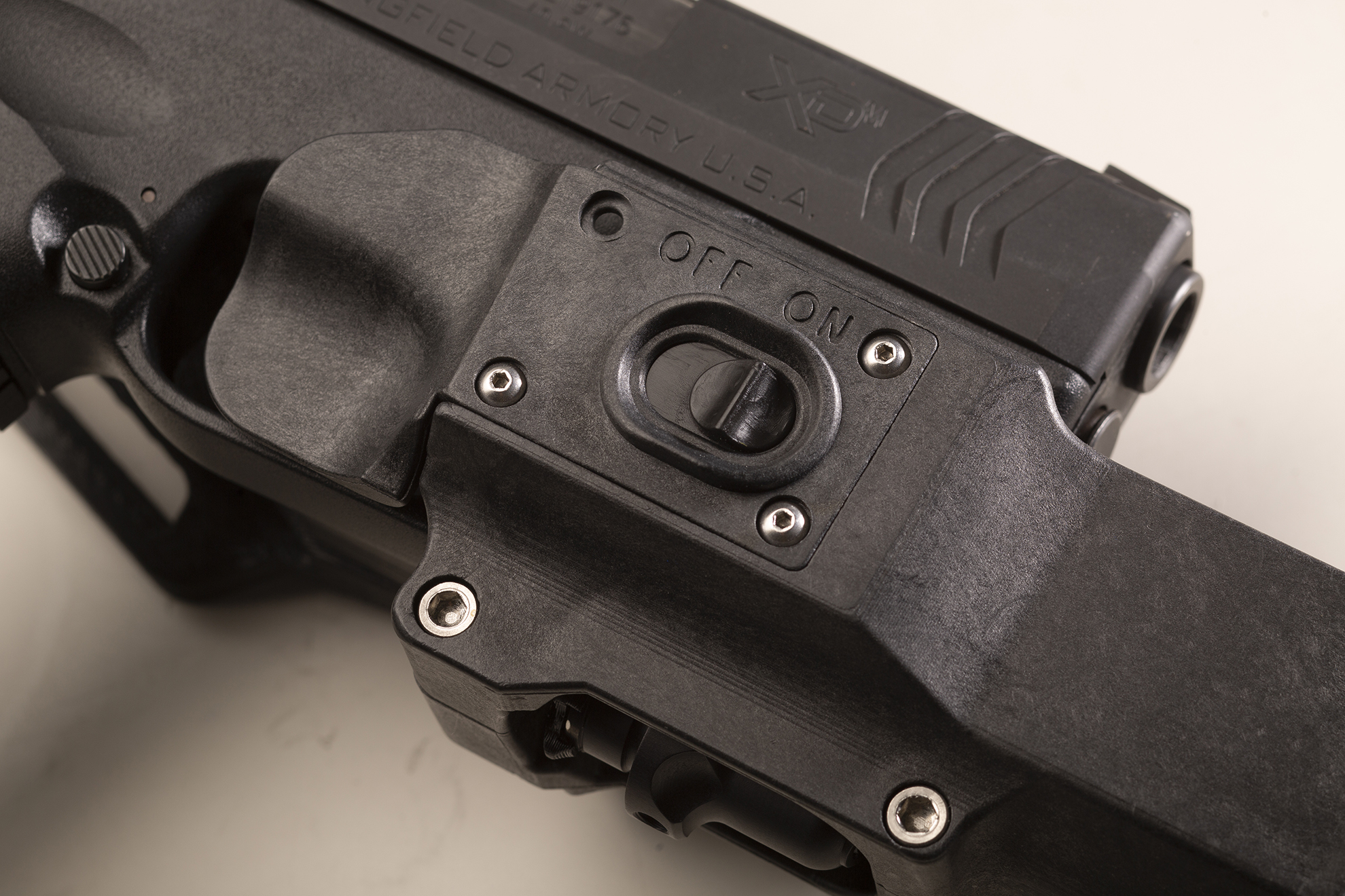 Surefire MasterFire holster provides instant light activation