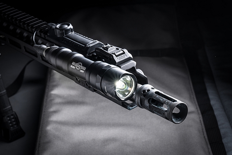 SureFire M600DF attached to rifle