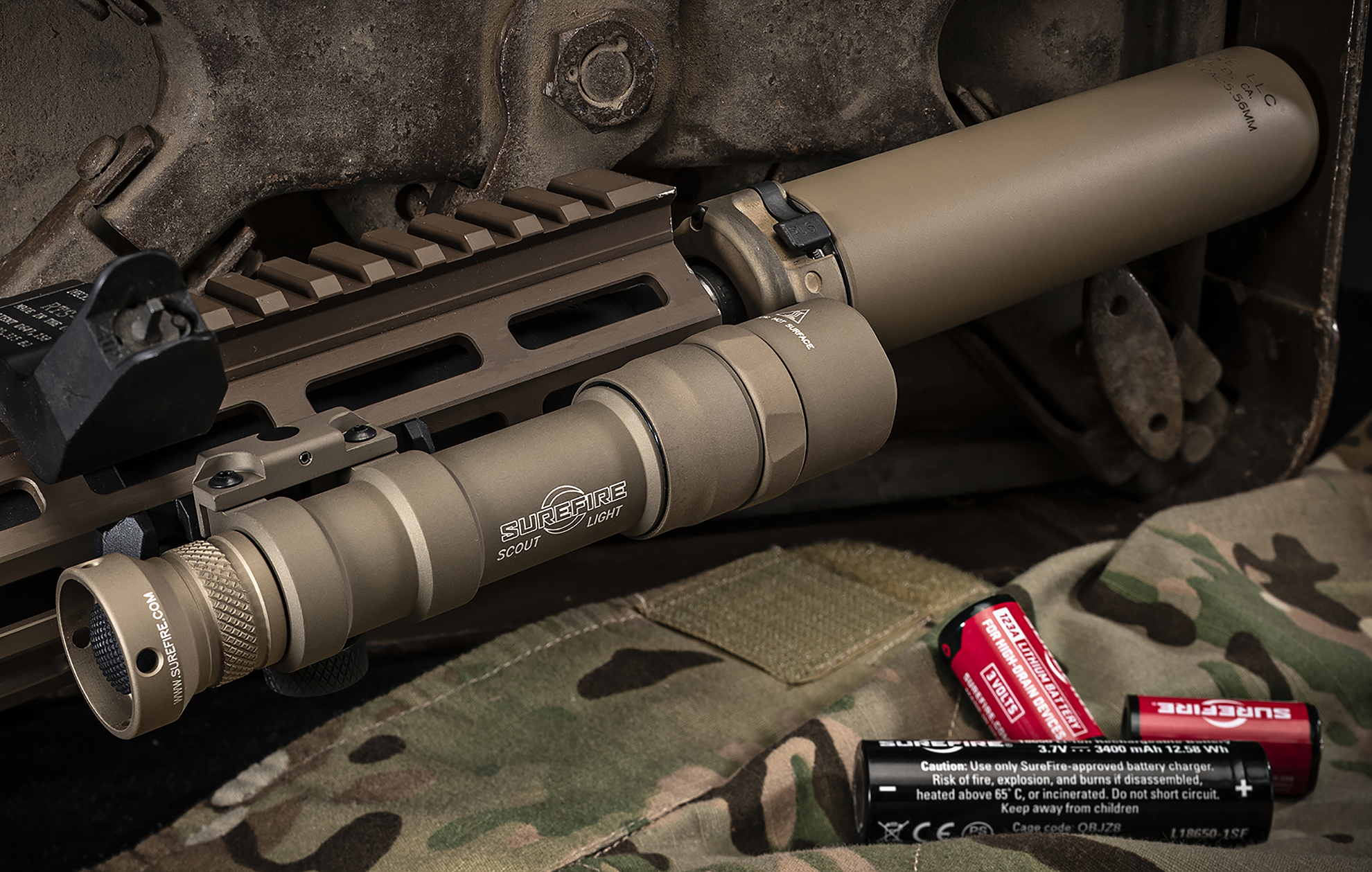 SureFire M600DF in Flat Dark Earth with Z68 tailcap