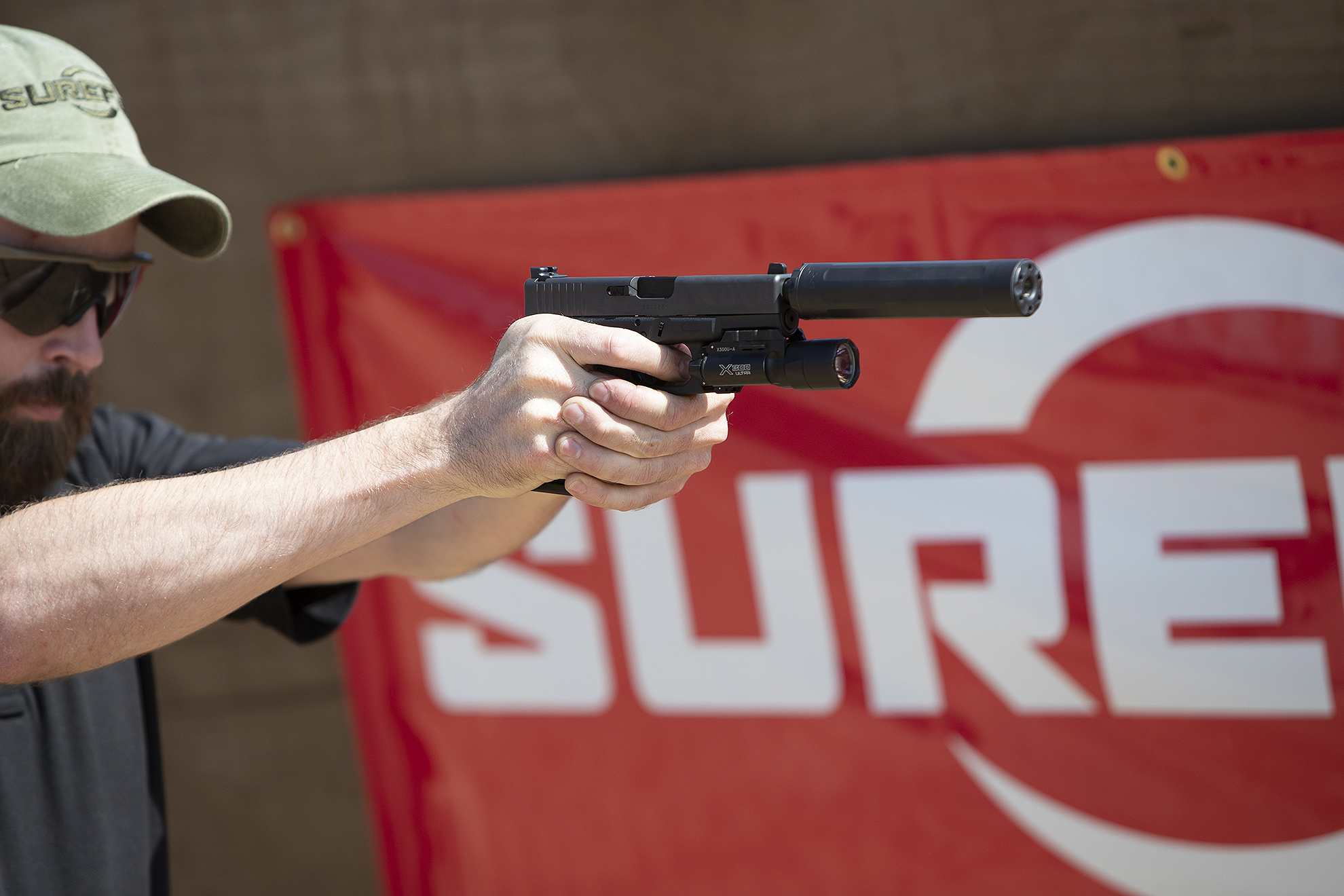 SureFire SF RYDER pistol suppressor range day