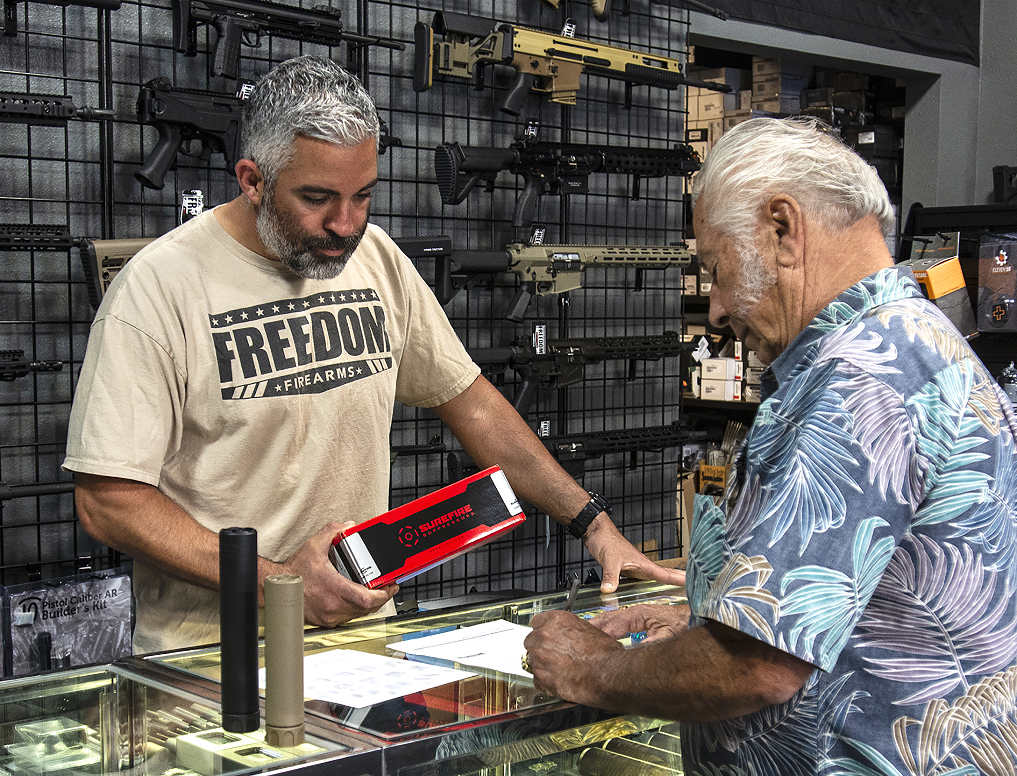 Freedom Firearms helps customer buy suppressor
