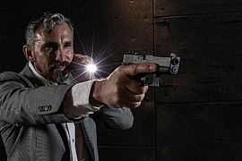 Jeff Gonzales of Trident Concepts with SureFire flashlight