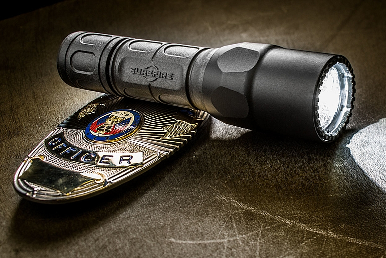 SureFire G2X Tactical LE with badge