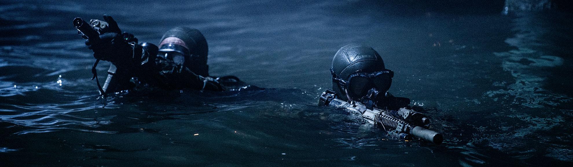 Elite naval forces use SureFire suppressors