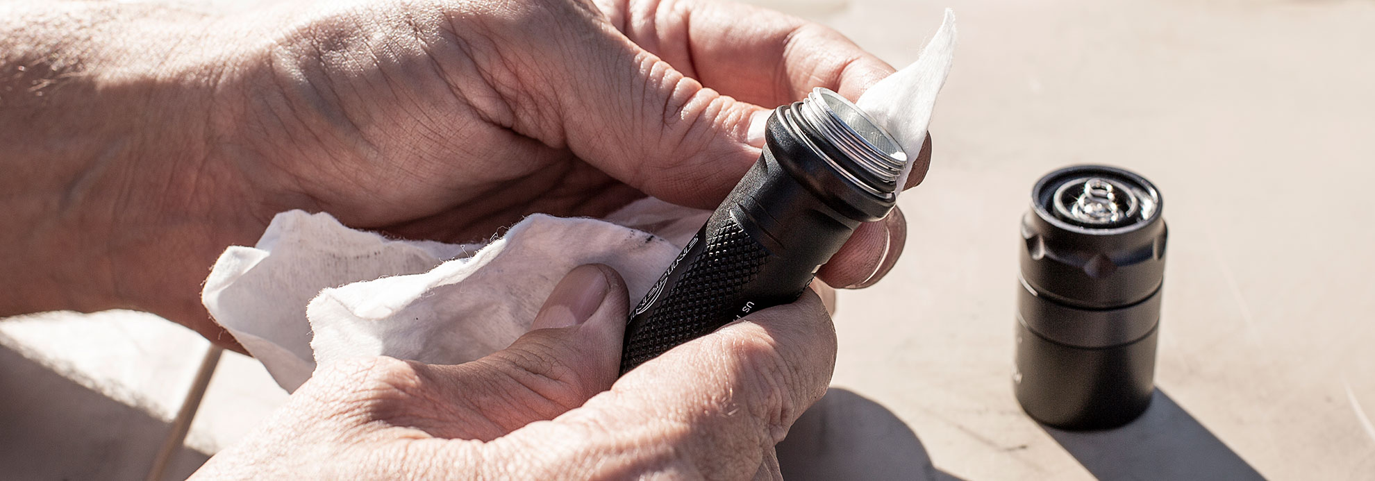 SureFire flashlight maintenance