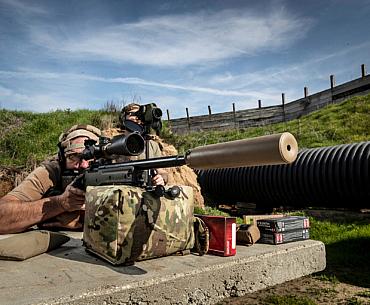 SureFire SOCOM408-ELR at the range