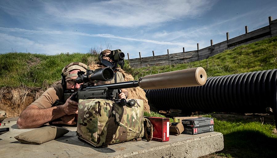 New SureFire SOCOM408-ELR SuppressorThe Lightweight Ti Suppressor for .408 CheyTac Long-Range Shooters