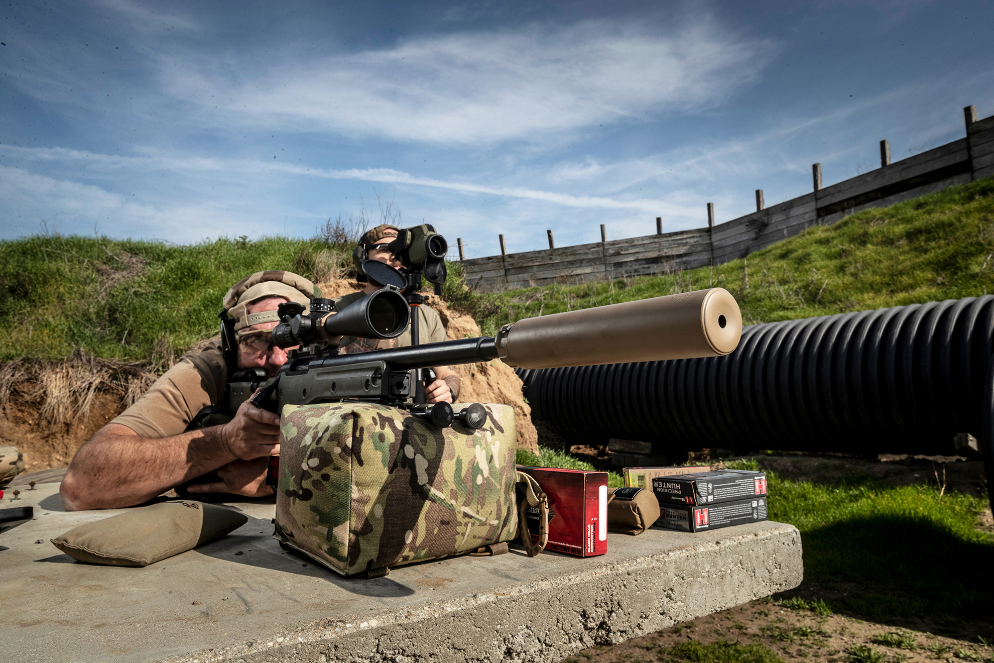 New SureFire SOCOM408-ELR SuppressorThe Lightweight Ti Suppressor for .408 CheyTac Long-Range Shooters