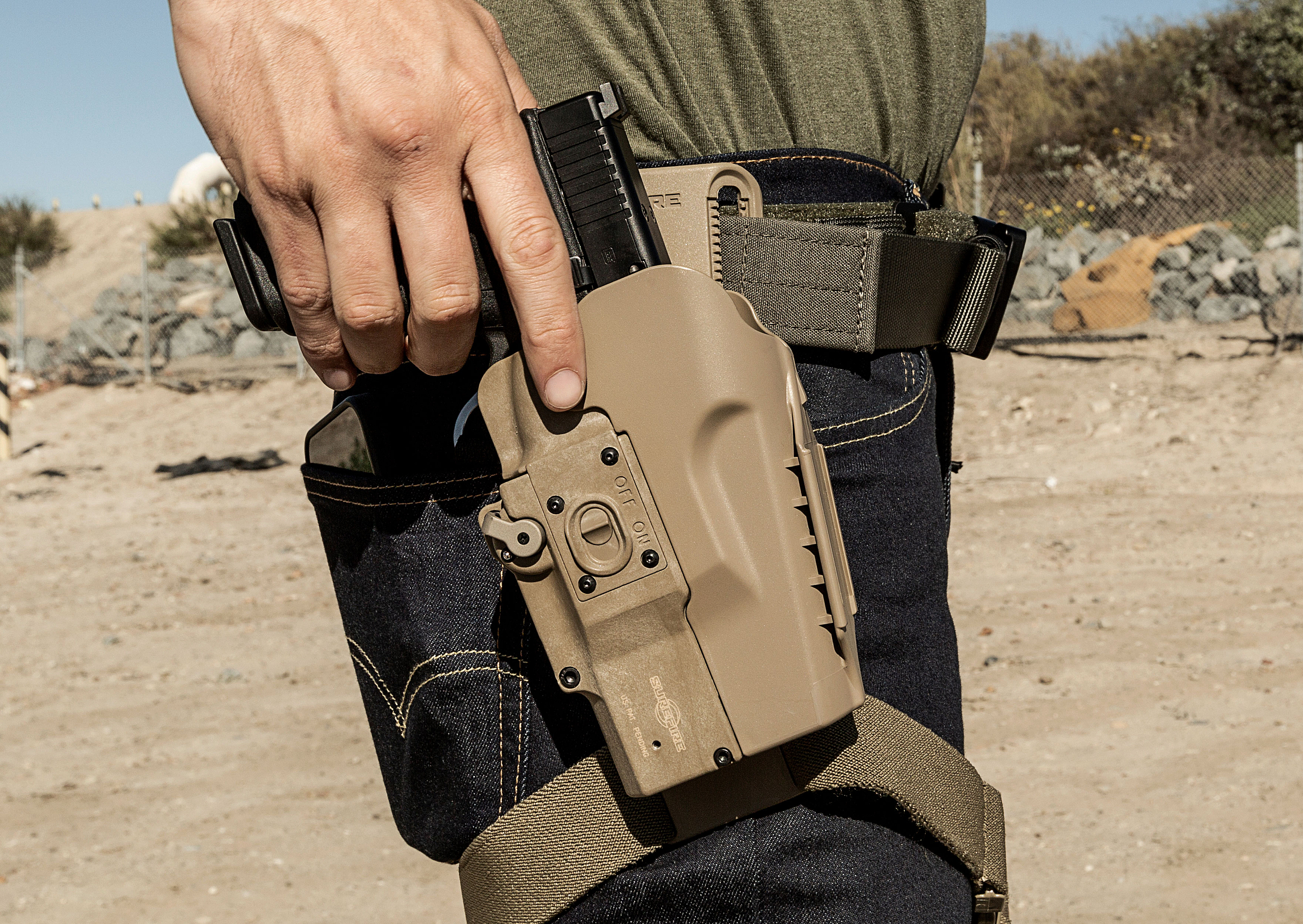 MasterFire Pro Holster on the draw