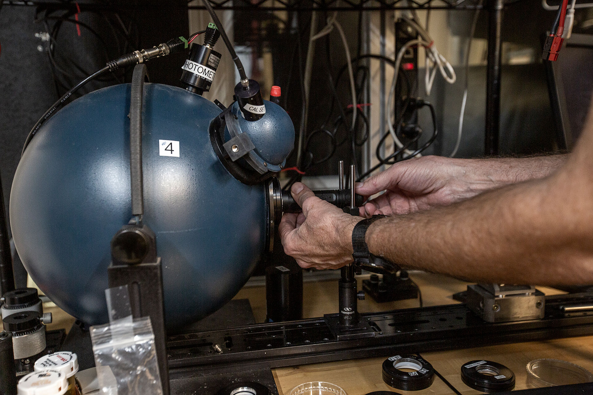 Testing in a lumisphere is part of SureFire's American manufacturing process